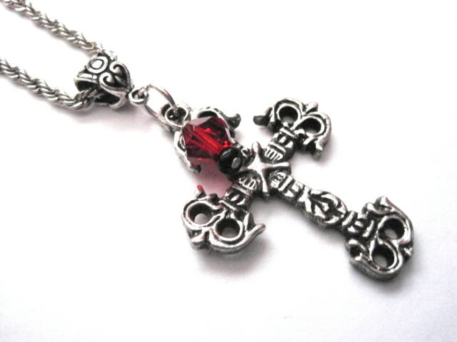 Metal Cross Goth Necklace  - product images  of