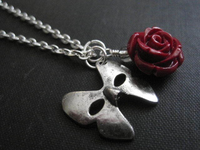 Phantom Opera Mask Gothic Necklace  - product images  of