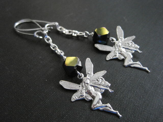 Goth Fairy Dangle Earrings - product images  of