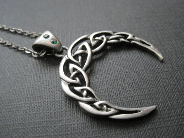 Crescent Moon Celtic Necklace - product images  of