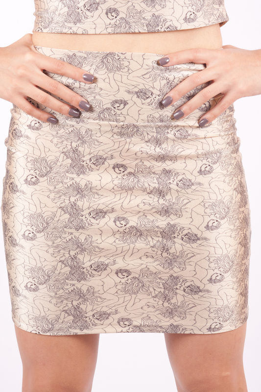 Forbidden Nude Tube Skirt - product image