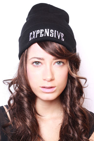 Expensive,Beanie,expensive, beanie, feen, black, white, hat, fashion, womens, womenfashion, clothes, clothing, shop, stylefeen, blog, blogger, ootd, outfit, sexy, handmade, style feen, Lady, Boner, Tee, top, tshirt, nastygal, forever21, madeinusa, brooklyn