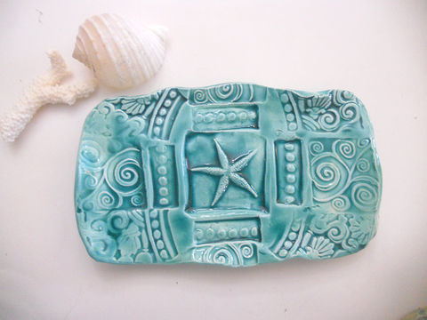 Starfish,Soap,Dish,Butter,Ceramics_and_Pottery,Soap_Dish,Clay,plate,soap_dish,ceramic,handmade_pottery,etsymudteam,ceramic_butter_dish,sponge_holder,wedding_favor,starfish_plate,butter_dish,blue_stone,earthenware_clay,glaze,pottery,imagination