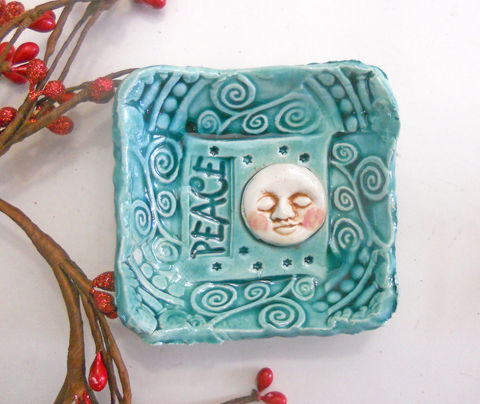 Moon,Peace,Ring,Bowl,Prep,Turquoise,Ceramics_And_Pottery,Ceramic,Ceramic_Moon_Bowl,Moon_Bowl,Ring_Bowl,Prep_Bowl,Stars,Night_Sky,Pagan,Wedding_Favor,Wicca,Rustic,Woodland_Forest,Pottery,moon_ring_bowl