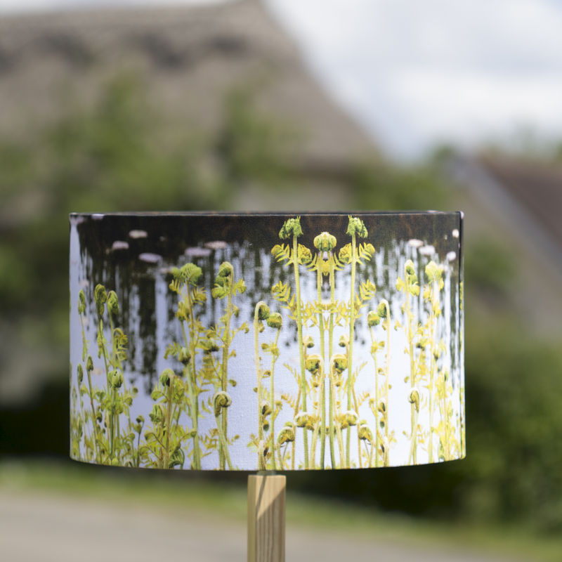 Green Fern Handmade Drum Lamp Shade For All We Know