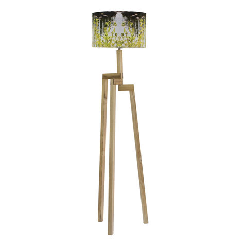 Fern,Lamp,Shade,and,Rubberwood,Floor, handmade lamp shade, English, Gardens, Floor lamp