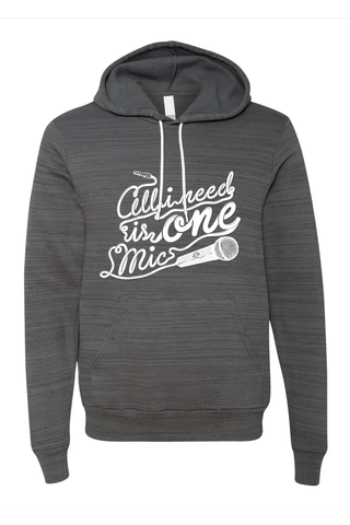 AVMotion,One,Mic,Hood,-,marble,dark,grey,(Special,Edition), Clothing, One Mic, dark grey hood, 2015, 2016, women, men, unisex, sweatshirt, music, sales, discount, white print, marble, Christmas present