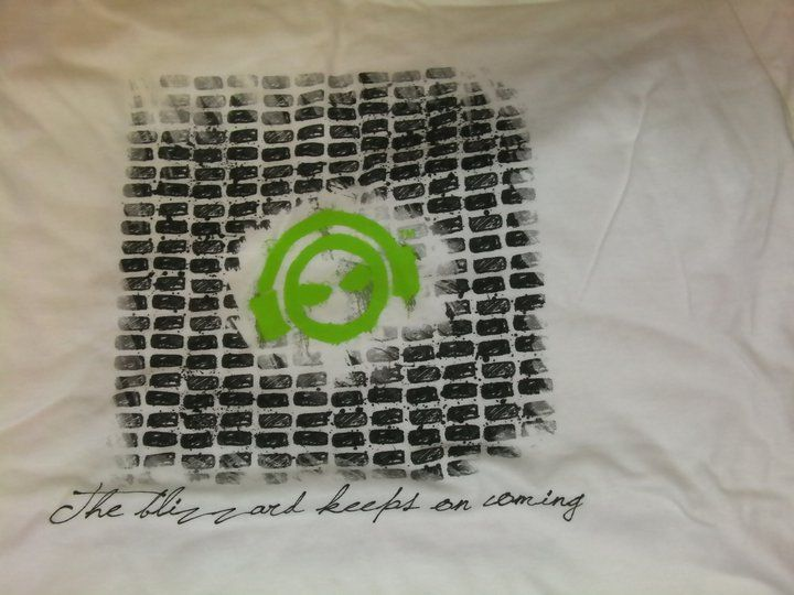 Male Brickwork T-shirt; green/lime/illuminous Logo - product images  of
