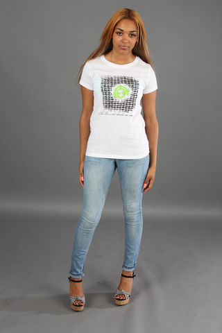 Female,Brickwork,T-shirt;,green/lime/illuminous,Logo,bricks, brickwork, work, green, logo, cotton, female, trend, 100%, white, music, headphones, tight fit, screen print, sales, black+friday, 2014, deals, clothing made for women, chic