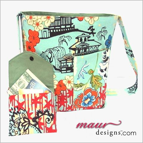 Shoulder,Crossbody,Purse,in,Asian,Inspired,Print,Asian printed Cross Body Purse, shoulder purse