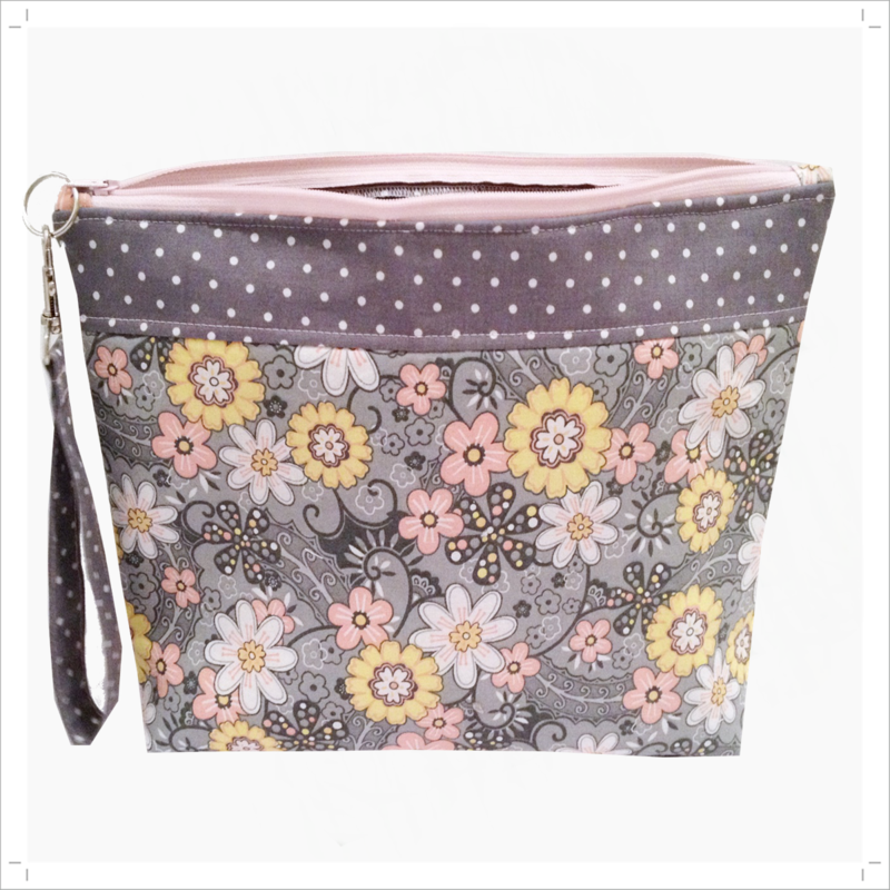 Project Bag in Pink, Grey, Yellow and White - product images  of