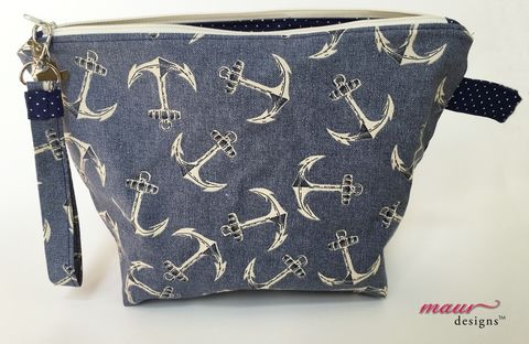 Anchors,Away,Project,Bag,Anchor Project Bag, Knitting, crochet, accessory bag, project bag