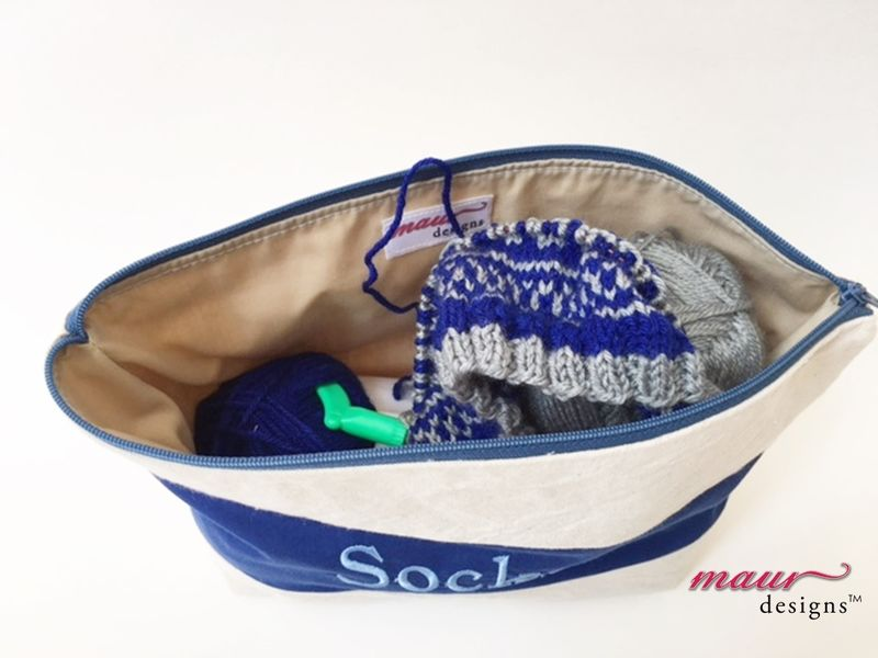 Socks -Blue Project Bag - product images  of