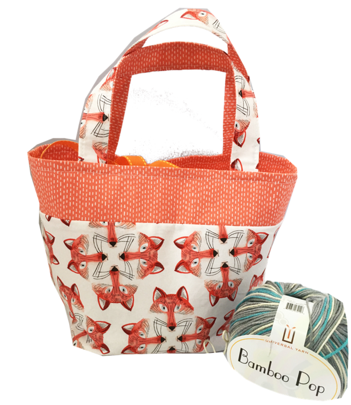 Foxey Sock Pop Up Project Bag - product images  of