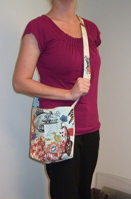 Shoulder Crossbody Purse in Asian Inspired Print - product images  of