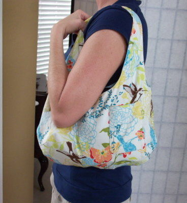 Hummingbird Hobo Style Reversible Purse - product images  of