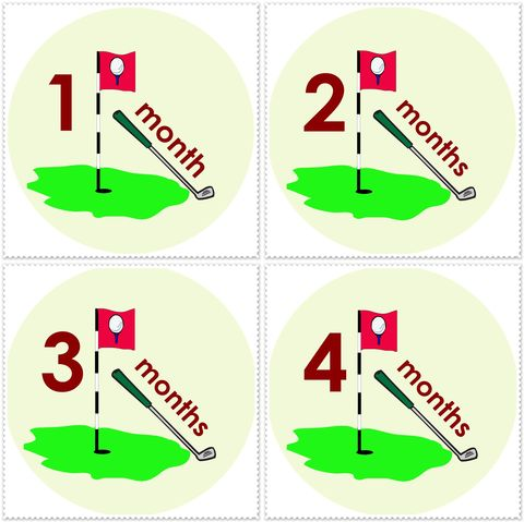 Golf,Monthly,Onesie,Stickers,for,Photography,Prop,Golf Birthday Stickers, Golfing, Golf Club, Golf Tee, Golf Ball, Monthly Stickers, Sports Stickers