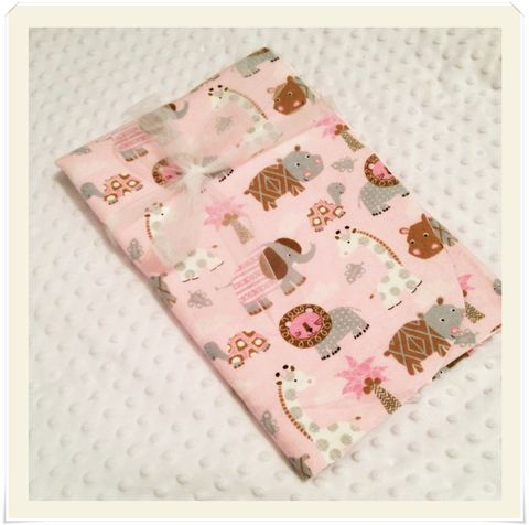 Pink,Safari,Jungle,Receiving,Blanket,Girls Jungle blanket, Safari blanket for girls, newborn safari blanket, baby shower gift