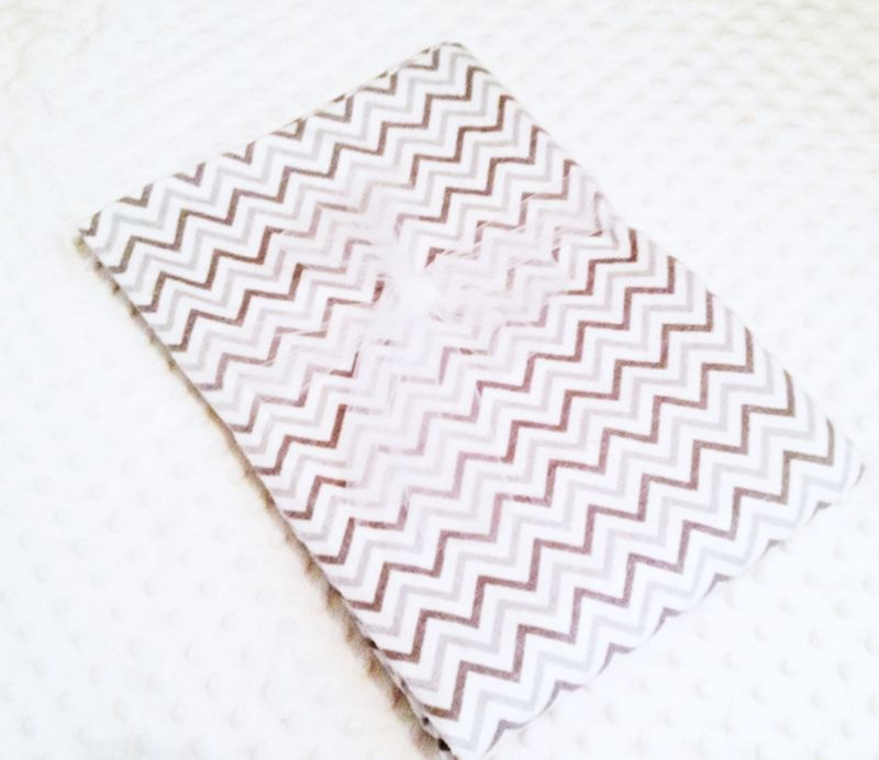 Grey Chevron Receiving Blanket/Swaddler - product images  of