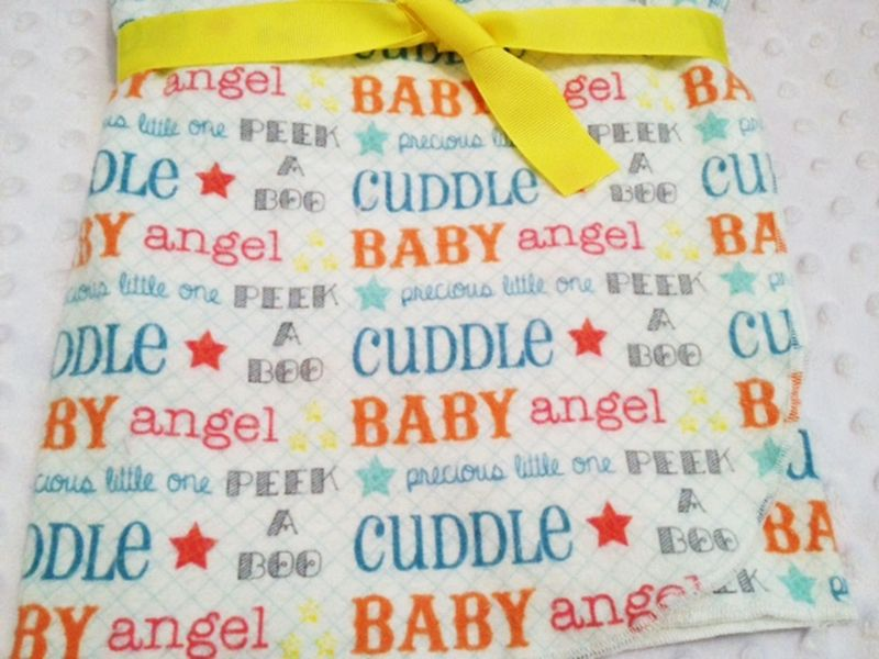 Ex Large Peek a Boo Cuddle Newborn Receiving Blanket - product images  of
