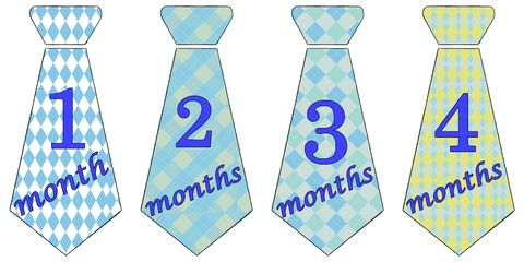 Arguile,Necktie,Birthday,Stickers,in,Blue,Baby Necktie stickers, baby tie stickers, Arguile Stickers Boys Necktie Stickers, baby shower tie gift