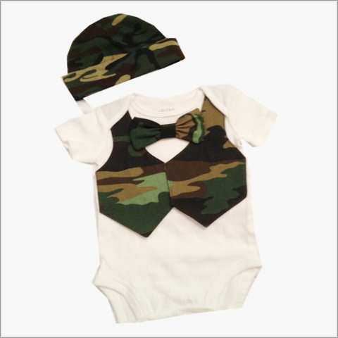 Boys,Camo,Vest,and,Tie,Newborn,coming,home,set,boys Camo Vest and Tie set, Newborn Camo baby set, baby shower gifts, Camo Onesie Set
