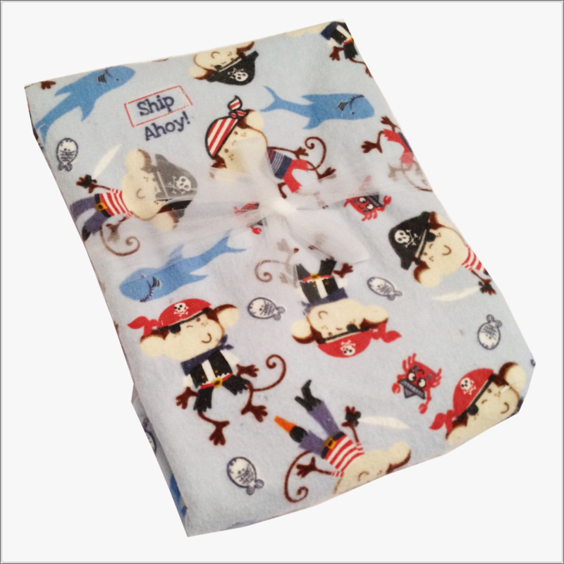 Ex Large Monkey Sailor Sea Receiving Blanket - product images  of