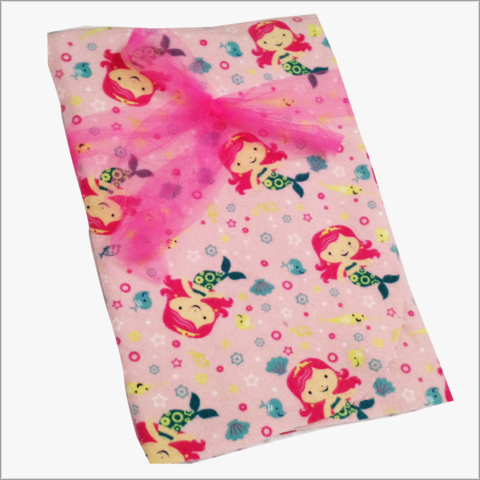 Precious,Mermaid,Receiving,Blanket,on,Pink,Flannel,Mermaid blanket, Mermaid Receiving Blanket, Pink Mermaid, Newborn blanket for girls