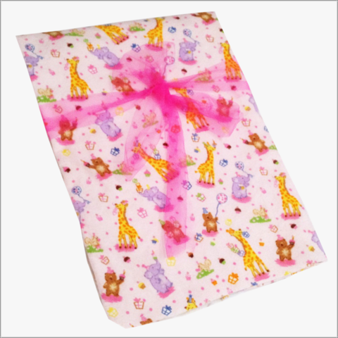 Baby,Animal,Receiving,Blanket/Bears,,Giraffe's,and,Elephants,Animal Baby Receiving Blanket, Giraffe, Bears, Elephant, presents