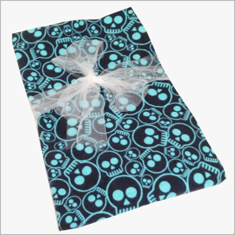 Skulls,Receiving,Blanket,in,Blue,Skulls Receiving Blanket, Skull Swaddler, Boy, Girl, Blue, Turquoise, Baby Blanket, Baby Swaddler, Skulls