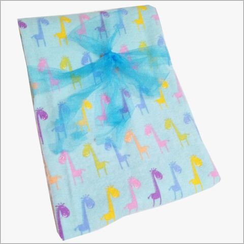 Giraffes,on,Aqua,Receiving,Blanket,Giraffe Receiving Blanket, Aqua, pink, blue, purple, yellow, newborn blanket, baby shower gift, girls