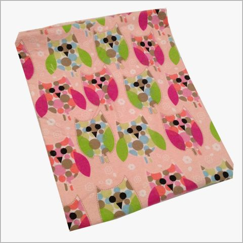 Pink,and,Green,Polka,Dot,Owls,Receiving,Blanket,for,Girls,owls receiving blankets, owl swaddler, polka dot owls, pink, green, blue, ex large blankets, baby shower gifts
