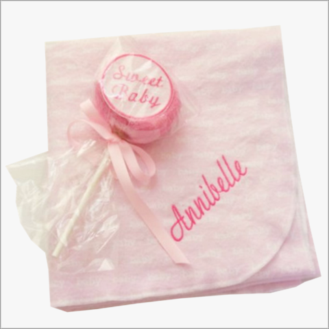 Girls,3-pc,Personalized,Receiving,Blanket,and,Washcloth,Lollipop,Set,Baby Girls blankets,personalized blanket,girls,pink swaddler,extra large blankets,baby shower gifts,personalized baby gifts,boutique style,Flannel