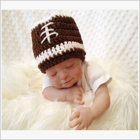 Baby,Football,Hat,Football hat, Baby Boy, Boys Football Hat, Newborn, baby shower gift. photo prop