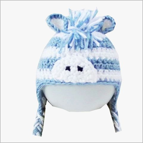 Zebra,Hat-Boys,Blue,and,White,Zebra Hats, children animal hats, blue, white, newborn, baby gifts