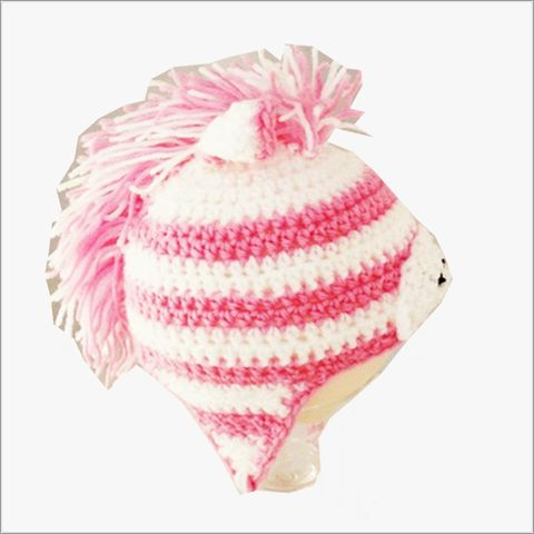 Pink,Zebra,Hat,for,Newborn,to,6,months,newborn photo props, zebra hat, babies animal hats