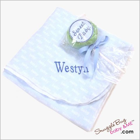 Boys,3-pc,Personalized,Receiving,Blanket,and,Washcloth,Lollipop,Baby gift set,newborn blanket,swaddler,receiving blanket,boys,personalized baby gift set,blue,newborn