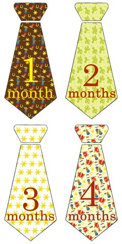 Cowboy,Western,Tie,Monthly,Onesie,Birthday,Stickers,Western Tie Onesie Birthday Stickers, Baby Monthly Birthday Stickers, Cowboys, horseshoes, western stickers, baby shower gifts
