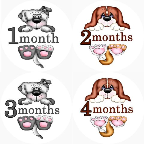 Puppy,Dog,Monthly,Birthday,Onesie,Stickers,Puppy Onesie Stickers, Puppy Birthday Stickers, Dog Stickers, Newborn Stickers, Baby Shower Gift, Onesie Stickers