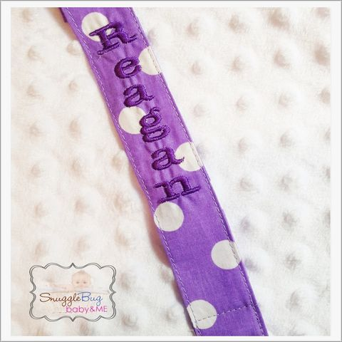 Lavender-Purple,Personalized,pacifier,clip,Purple personalized pacifier clip, lavender polka dot pacifier clip, newborn, baby shower gift, personalized pacifiers