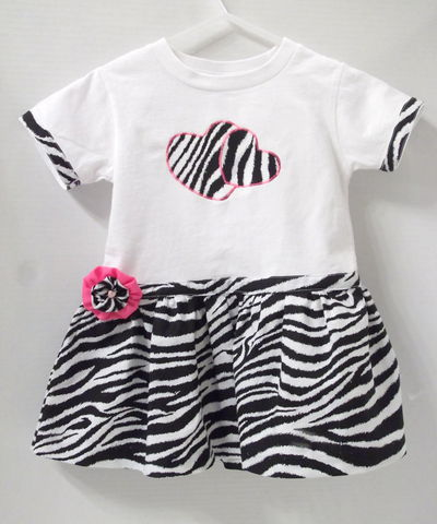 Trendy,Zebra,Tee,Shirt,Dress,Toddler Zebra Tee Shirt Dress
