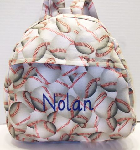 Baseballs,and,Backpacks,Baseball Toddler Backpacks