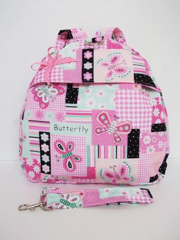 Pink,Butterfly,Toddler,Backpack,Pink butterfly backpack