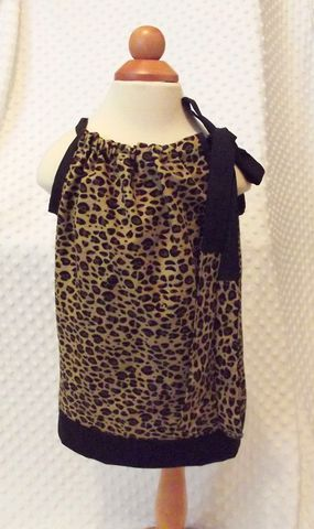 Leopard,and,Black,Pillowcase,Sundress,Leopard Sundress, animal print Pillowcase Dress, toddler sundress