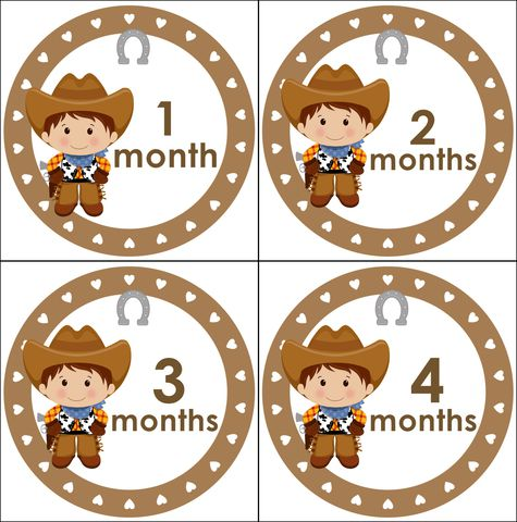 Cowboys,Monthly,Birthday,Stickers,Cowboy onesie stickers, monthly birthday stickers, photo props