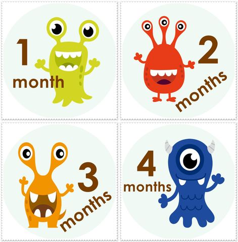 Monster,Onesie,Stickers,-Super,cute,Monster Onesie Stickers, Boys stickers, Baby Shower gift ideas