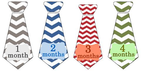 Chevron,Trendy,Boys,Tie,Onesie,Stickers,for,photo,props,Chevron Tie onesie stickers, red ties, green ties, blue ties, grey ties, monthly onesie stickers