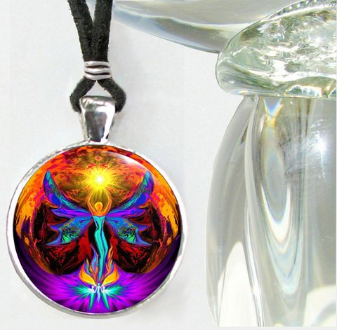 Chakra,Jewelry,,Angel,Necklace,,Rainbow,Reiki,,Phoenix,Rising,chakra art, reiki art, angel art, red jewelry, red necklace, root chakra, first chakra, chakra necklace, spiritual art, angel necklace