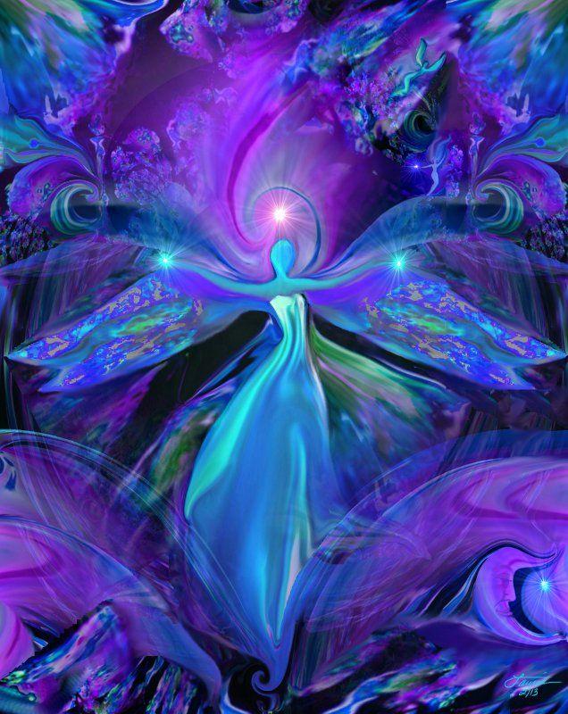 purple third eye angel art reiki healing decor quotthe seer