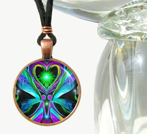 Twin,Flames,Jewelry,,Heart,Necklace,,Angels,,Chakra,Jewelry,Unconditional,Love, chakras, hippie, boho, bohemian, festival, chic, new age, psychedelic, metaphysical, blue, purple, teal, abstract, necklace, pendant, pendant necklace, reiki, healing, energy, spiritual, jewelry, meditation, angel, yoga, alternative healing, vis